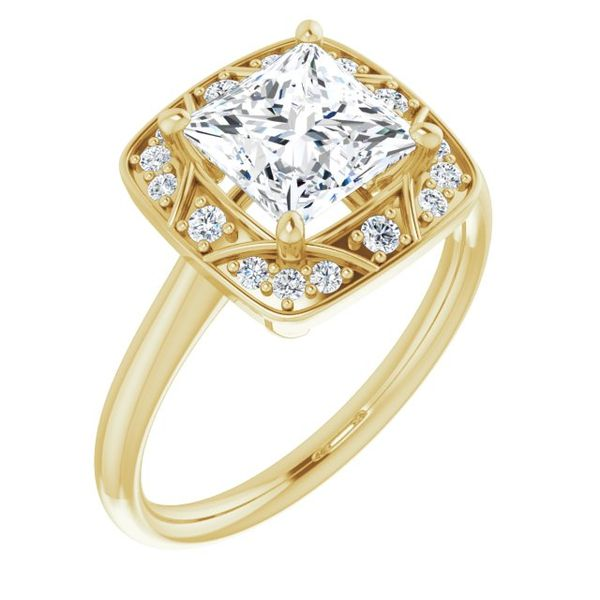 Vintage,Inspired Halo,Style Engagement Ring