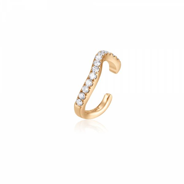 NORA | Single Diamond Curvy Ear Cuff Barron's Fine Jewelry Snellville, GA