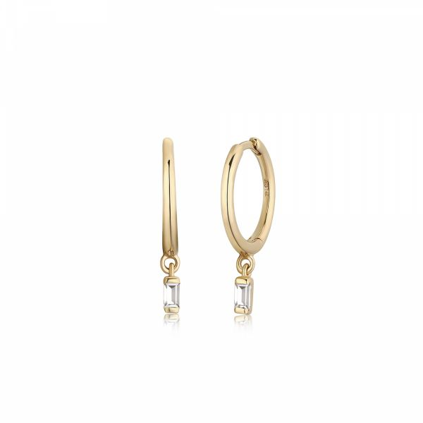 MILEY | Single Topaz Huggie Hoop Barron's Fine Jewelry Snellville, GA