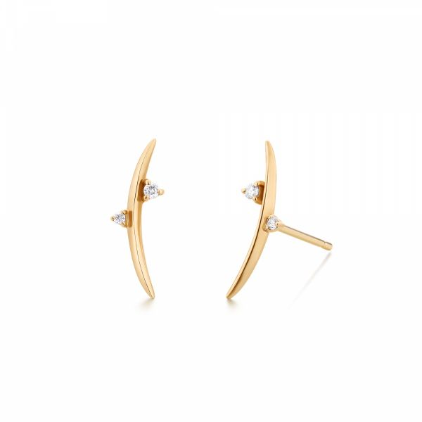 DORA | Diamond Arc Earrings Barron's Fine Jewelry Snellville, GA