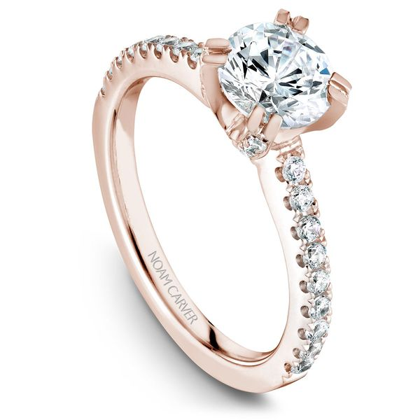 Rose Gold Engagement Ring With 44 Diamonds. Image 2 Barron's Fine Jewelry Snellville, GA