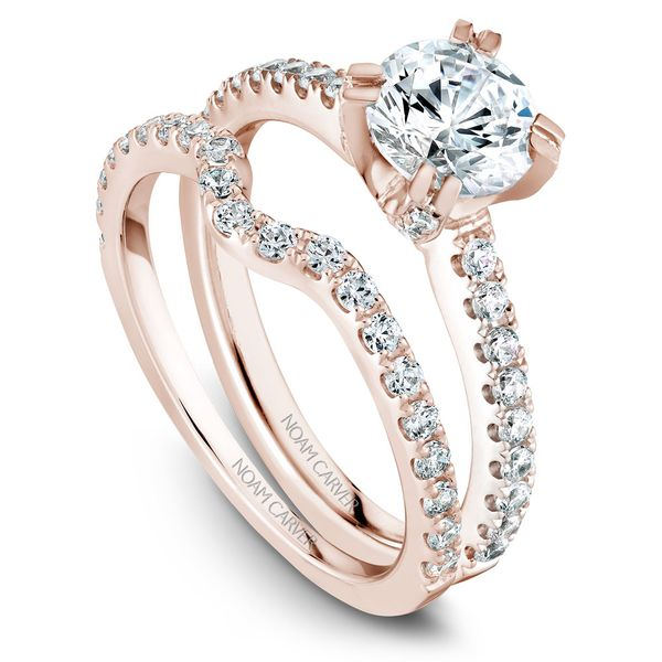 Rose Gold Engagement Ring With 44 Diamonds. Image 3 Barron's Fine Jewelry Snellville, GA