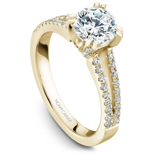 Yellow Gold Engagement Ring With 62 Diamonds. Image 2 Barron's Fine Jewelry Snellville, GA