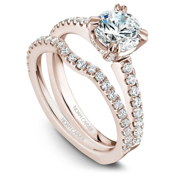 Rose Gold Engagement Ring With 52 Diamonds. Image 3 Barron's Fine Jewelry Snellville, GA