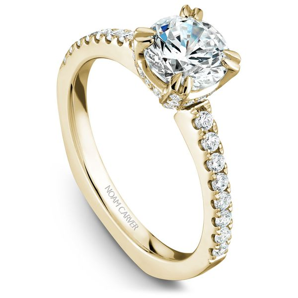 Yellow Gold Engagement Ring With 52 Diamonds. Image 2 Barron's Fine Jewelry Snellville, GA