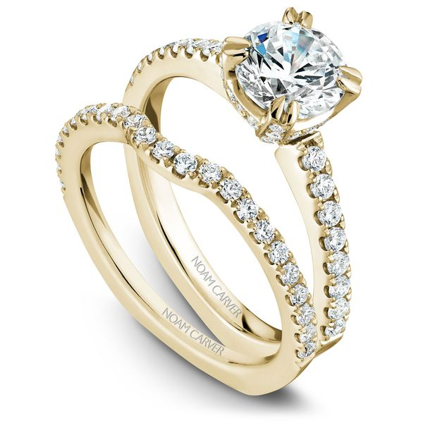 Yellow Gold Engagement Ring With 52 Diamonds. Image 3 Barron's Fine Jewelry Snellville, GA