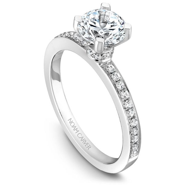 White Gold Engagement Ring With 30 Diamonds. Image 2 Barron's Fine Jewelry Snellville, GA