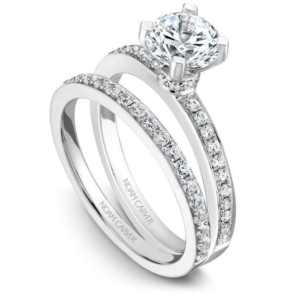 White Gold Engagement Ring With 30 Diamonds. Image 3 Barron's Fine Jewelry Snellville, GA