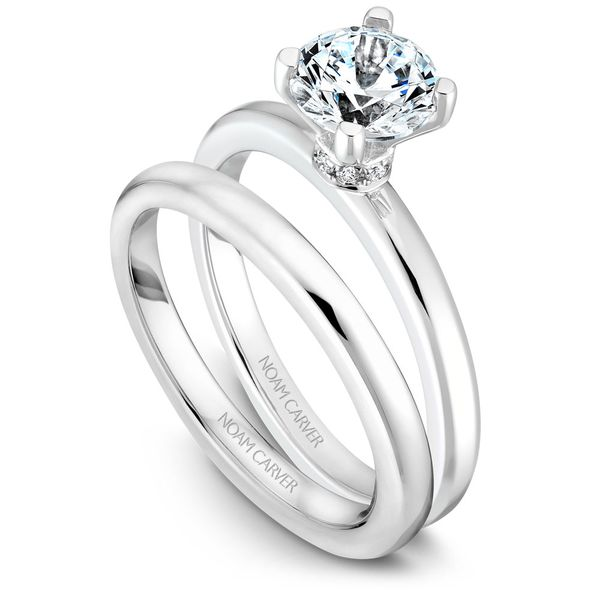 White Gold Engagement Ring With 8 Diamonds. Image 3 Barron's Fine Jewelry Snellville, GA