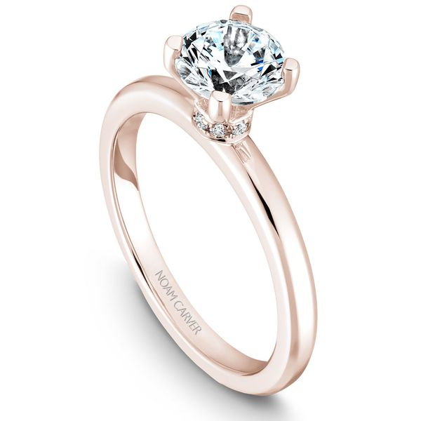 Rose Gold Engagement Ring With 8 Diamonds. Image 2 Barron's Fine Jewelry Snellville, GA