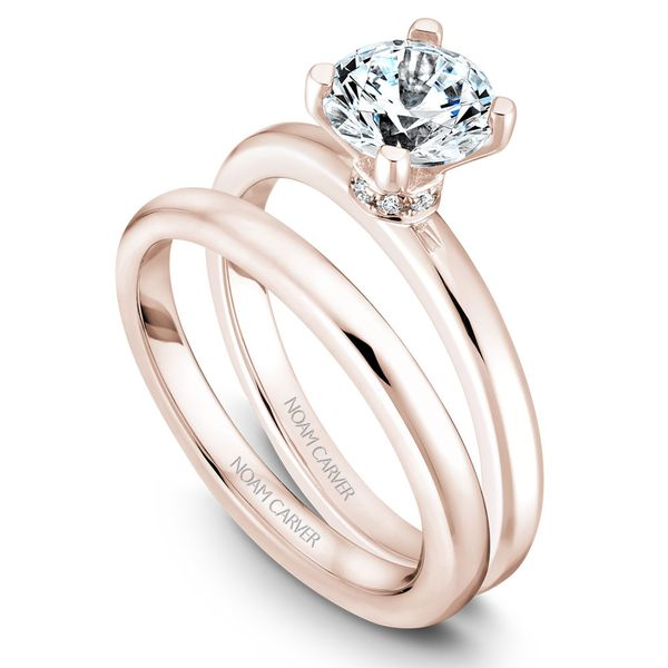 Rose Gold Engagement Ring With 8 Diamonds. Image 3 Barron's Fine Jewelry Snellville, GA