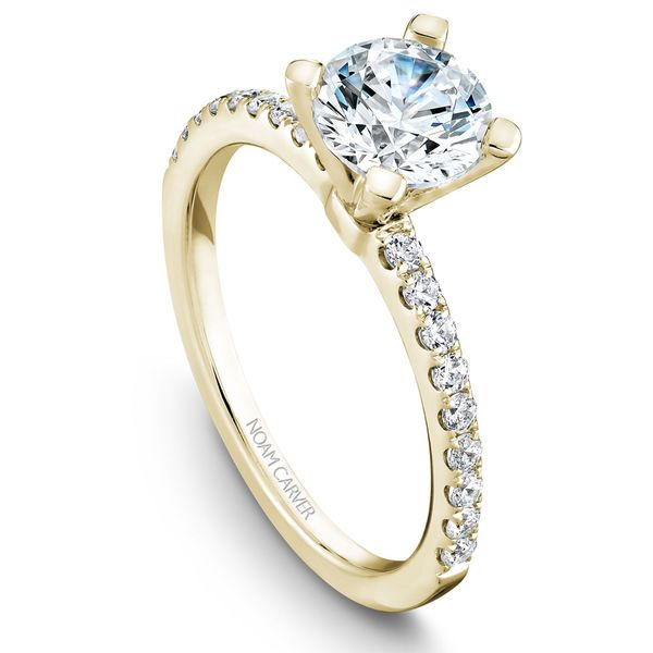 Yellow Gold Engagement Ring With 18 Diamonds. Image 2 Barron's Fine Jewelry Snellville, GA