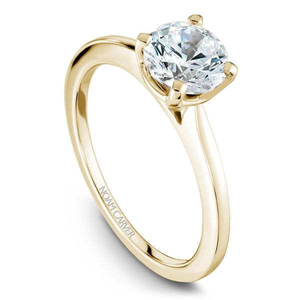 Yellow And White Gold Engagement Ring With A Round Centerpiece. Image 4 Barron's Fine Jewelry Snellville, GA