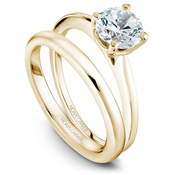 Yellow And White Gold Engagement Ring With A Round Centerpiece. Image 3 Barron's Fine Jewelry Snellville, GA