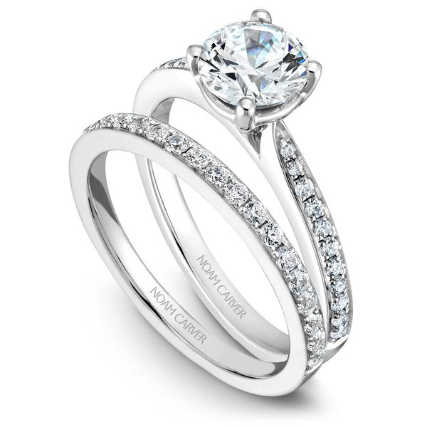 White Gold Engagement Ring With 22 Diamonds. Image 3 Barron's Fine Jewelry Snellville, GA