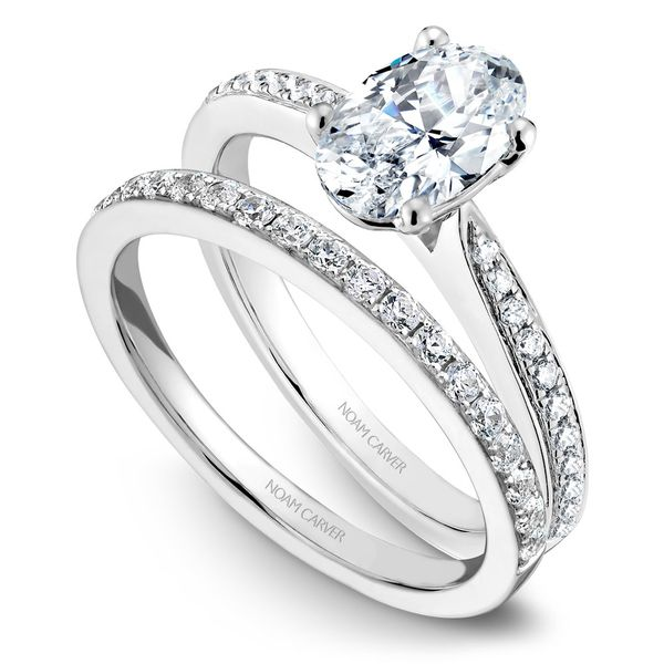 White Gold Engagement Ring With An Oval Centerpiece And 22 Diamonds. Image 3 Barron's Fine Jewelry Snellville, GA