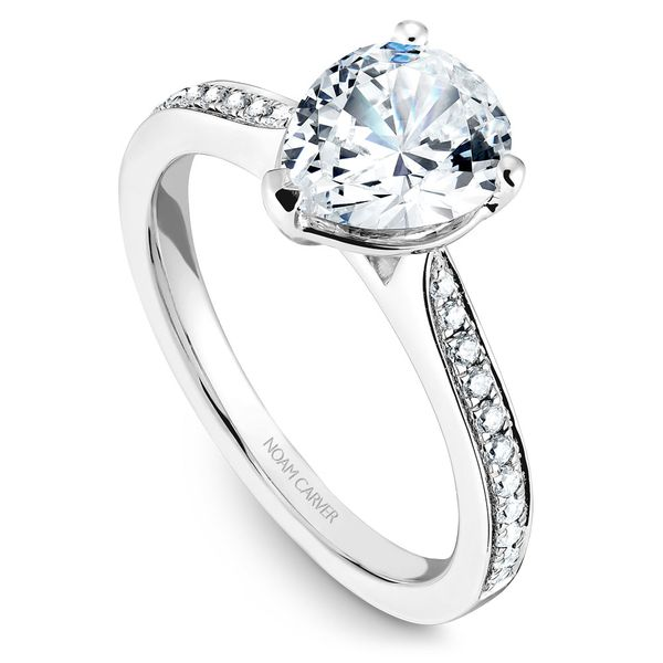 White Gold Engagement Ring With A Pear Cut Centerpiece And 22 Diamonds. Image 2 Barron's Fine Jewelry Snellville, GA