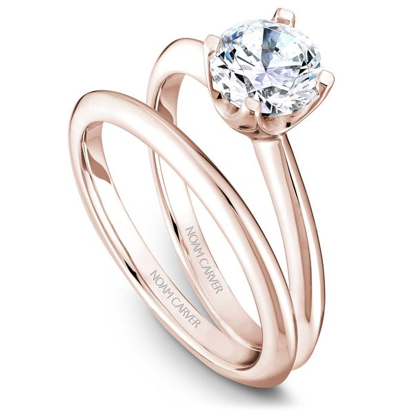 Rose Gold Engagement Ring With A Round Centerpiece. Image 3 Barron's Fine Jewelry Snellville, GA