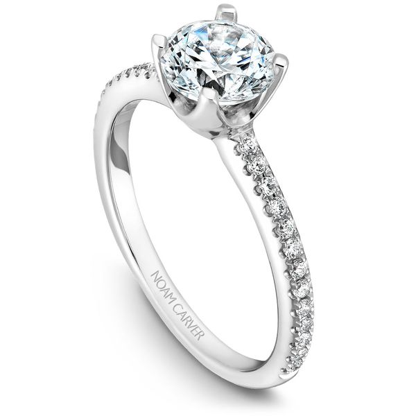 White Gold Engagement Ring With 26 Diamonds. Image 4 Barron's Fine Jewelry Snellville, GA