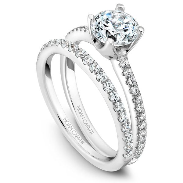 White Gold Engagement Ring With 26 Diamonds. Image 3 Barron's Fine Jewelry Snellville, GA