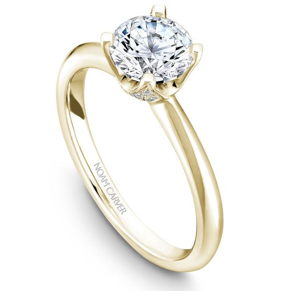 Yellow Gold Engagement Ring With A Round Centerpiece And 32 Diamonds. Image 4 Barron's Fine Jewelry Snellville, GA