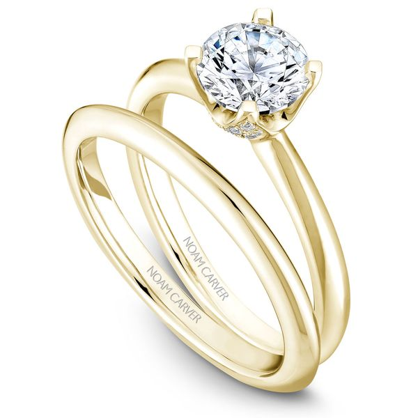 Yellow Gold Engagement Ring With A Round Centerpiece And 32 Diamonds. Image 3 Barron's Fine Jewelry Snellville, GA