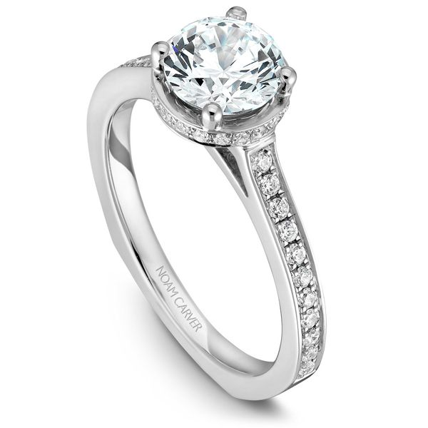White Gold Engagement Ring With 42 Diamonds. Image 4 Barron's Fine Jewelry Snellville, GA