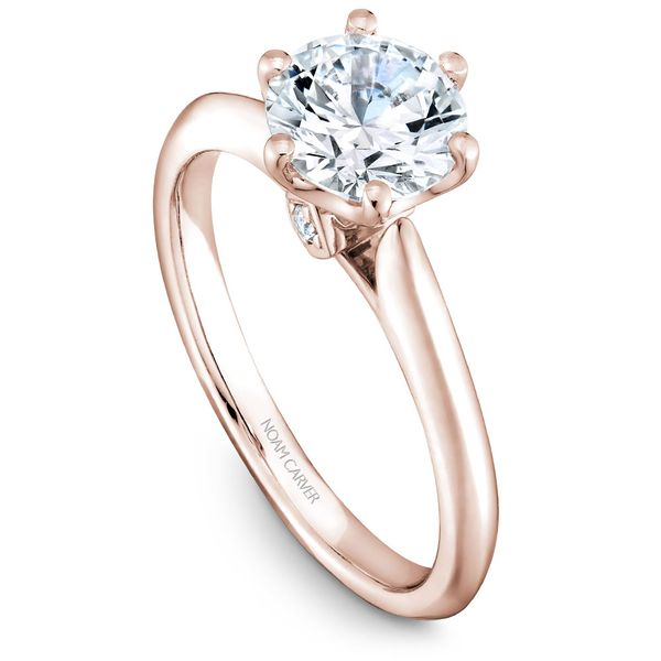 Rose Gold Engagement Ring With 2 Diamonds. Image 2 Barron's Fine Jewelry Snellville, GA