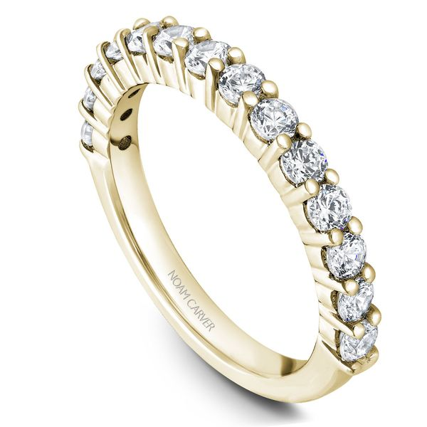 Yellow Gold Engagement Ring With 12 Diamonds. Image 5 Barron's Fine Jewelry Snellville, GA