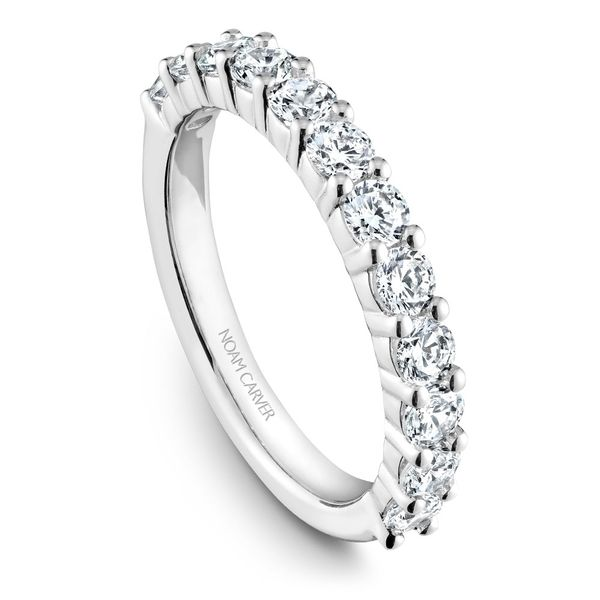 White Gold Engagement Ring With 10 Diamonds. Image 5 Barron's Fine Jewelry Snellville, GA