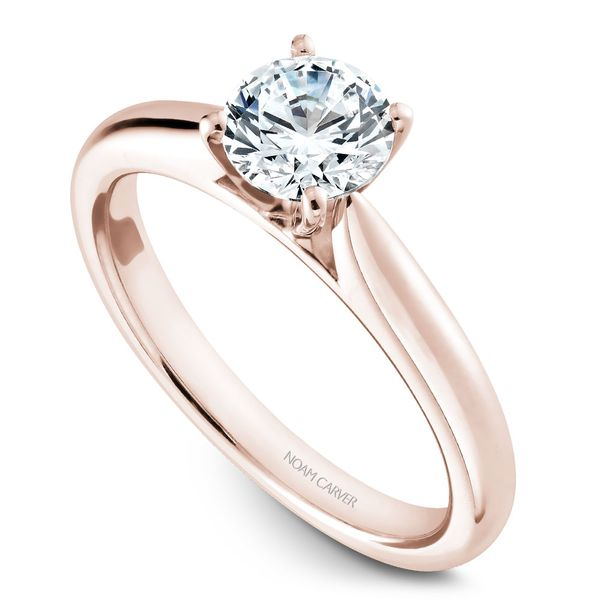 Rose Gold Engagement Ring With A Round Centerpiece. Image 2 Barron's Fine Jewelry Snellville, GA