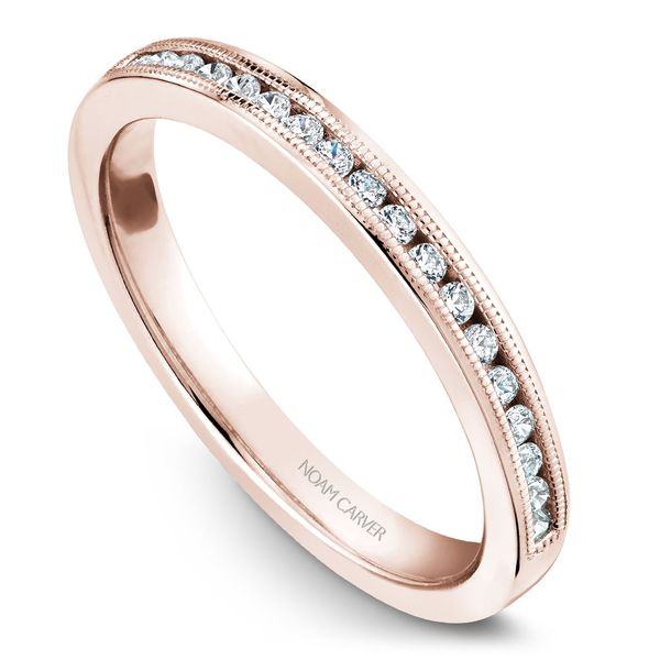 Rose Gold Engagement Ring With 16 Diamonds. Image 5 Barron's Fine Jewelry Snellville, GA