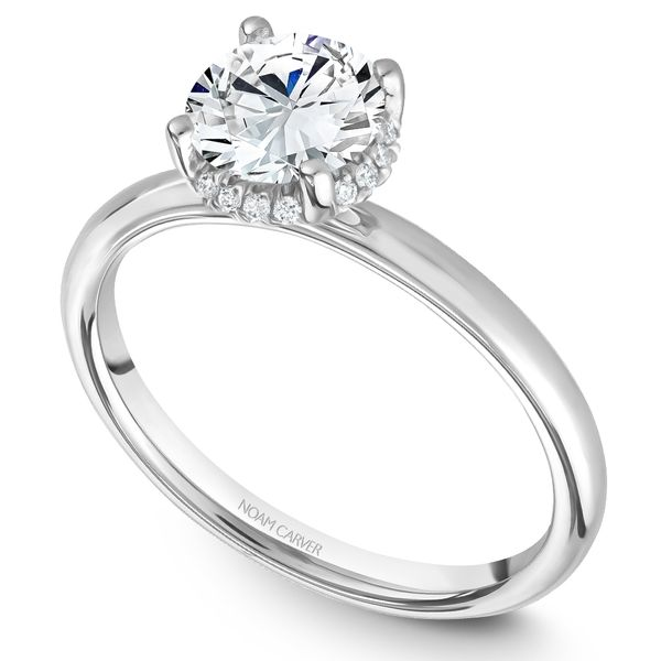White Gold Engagement Ring With 16 Diamonds. Image 2 Barron's Fine Jewelry Snellville, GA