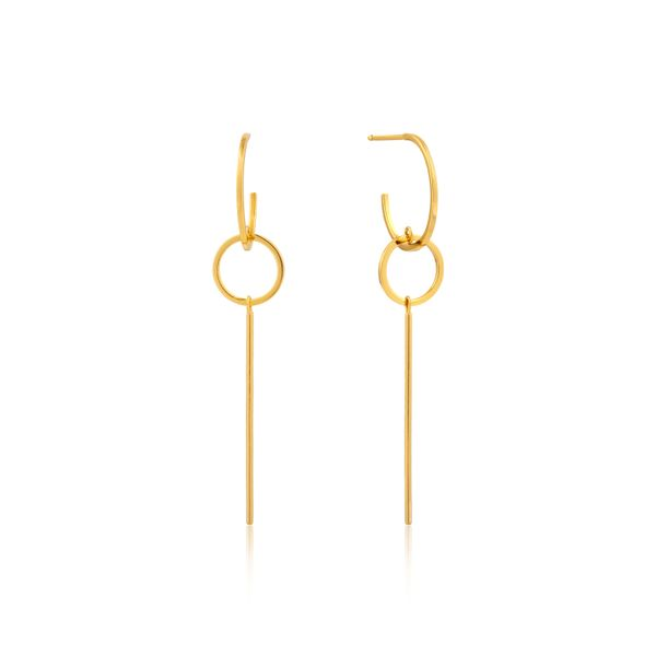 Modern Solid Drop Earrings Barron's Fine Jewelry Snellville, GA