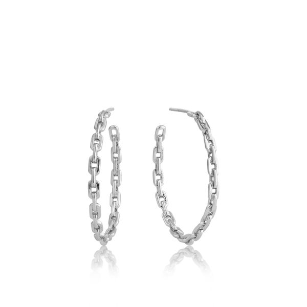 Chain Hoop Earrings Barron's Fine Jewelry Snellville, GA