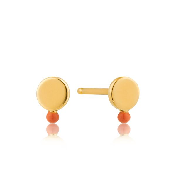 Dotted Disc Stud Earrings Barron's Fine Jewelry Snellville, GA
