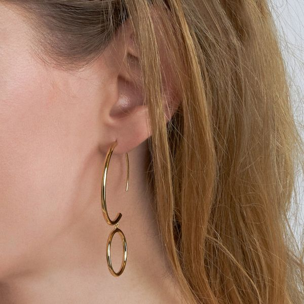 Double Hoop Earrings Image 2 Barron's Fine Jewelry Snellville, GA