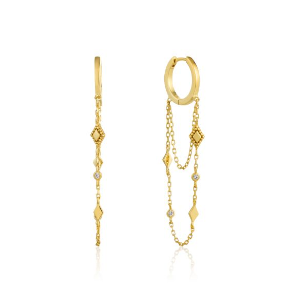 BOHEMIA CHAIN DROP MINI HOOPS Barron's Fine Jewelry Snellville, GA