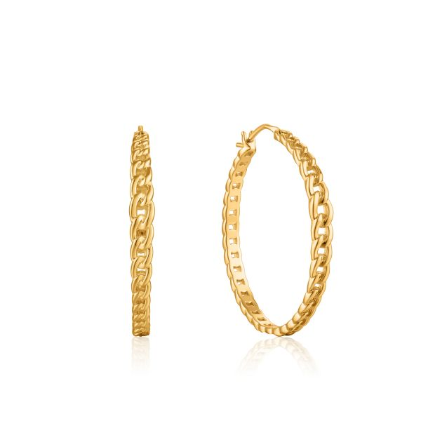 CURB CHAIN HOOP EARRINGS Barron's Fine Jewelry Snellville, GA