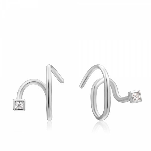 TWIST SQUARE SPARKLE EARRINGS Barron's Fine Jewelry Snellville, GA