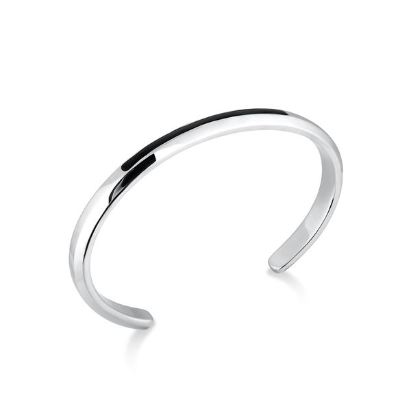 PURITY |Cuff with Thin Black Accent Bar Barron's Fine Jewelry Snellville, GA