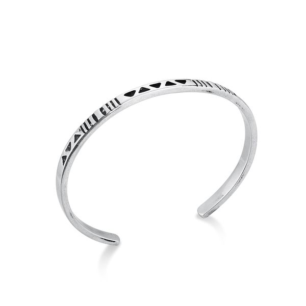 STRENGTH|Narrow Cuff with Symbols Barron's Fine Jewelry Snellville, GA