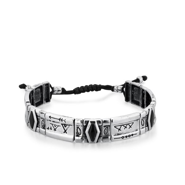 COUNSELOR | Black Agate and Leather Bracelet Barron's Fine Jewelry Snellville, GA