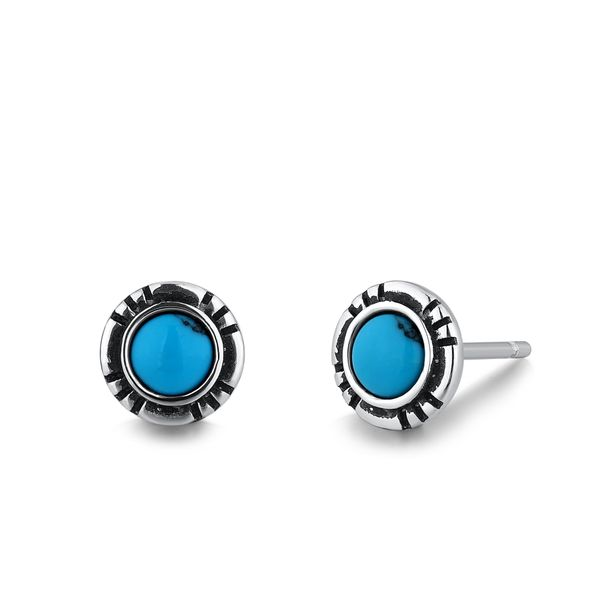 APOSTLE |Stud Earrings with Turquoise Barron's Fine Jewelry Snellville, GA