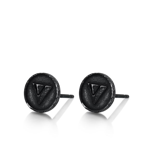 MOHAWK | Circular Stud Earrings with Triangle Design Barron's Fine Jewelry Snellville, GA
