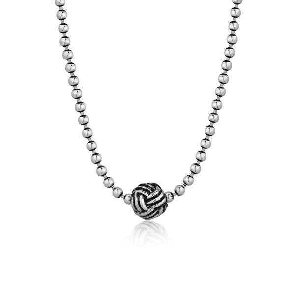 KNOT | Silver Necklace with Fisherman's Knot Barron's Fine Jewelry Snellville, GA