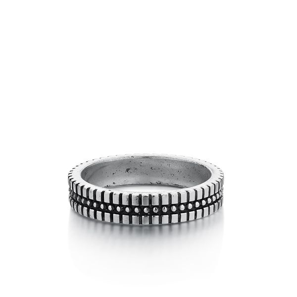 ALEJO | Silver Band with Dots and Etching Barron's Fine Jewelry Snellville, GA