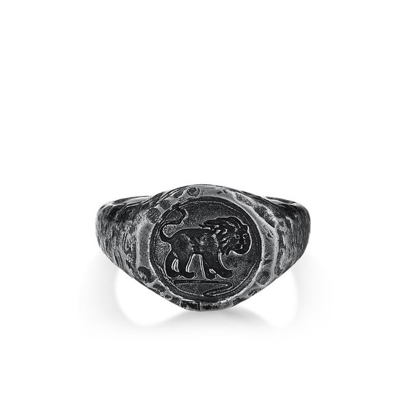 LION | Signet Ring with Lion Engraving Barron's Fine Jewelry Snellville, GA