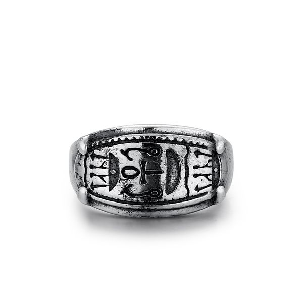 MASTER|Oval Ring with Hieroglyphics Barron's Fine Jewelry Snellville, GA