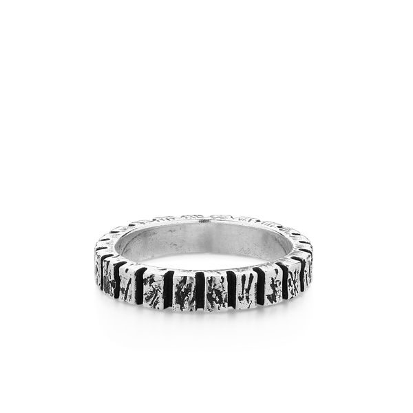 AMOS | Ring with Etched Parallel Lines Barron's Fine Jewelry Snellville, GA